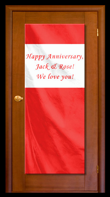 Red - Custom Door Banner