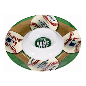 MLB Round Chip and Dip Tray- 13in