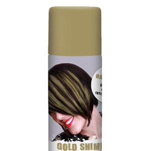 Color Hair Spray- Gold