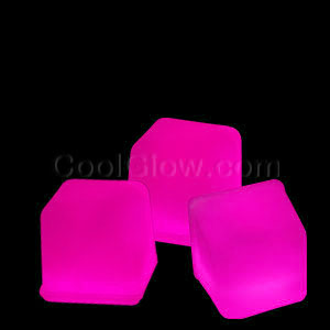Glowing Ice Cubes - Pink