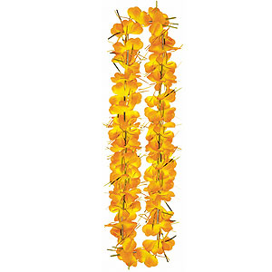 Orange Tinsel Lei- 40in