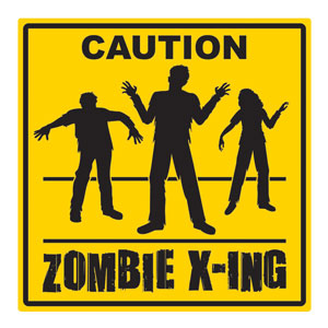 Zombie Crossing Cutout- 15in