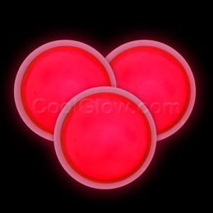 Glow Badge Round - Red