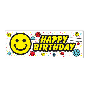 Birthday Smile Sign Banner - 5ft