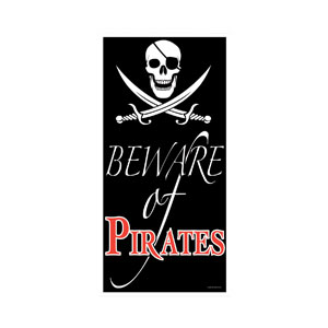 Beware of Pirates Door Cover - 5ft
