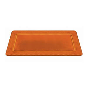Elegant Fall Rectangular Platter- Orange 16 Inch