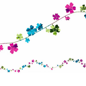 Summer Floral Wire Garland- 12ft