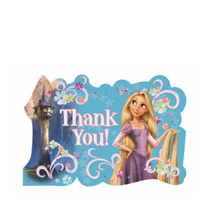 Disney Tangled Thank You Cards- 8ct