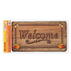 Autumn Welcome Sign Peel n Place