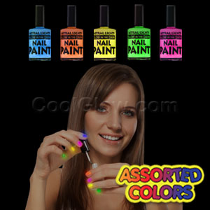 Glow in the Dark Nail Polish Assorted 36ct