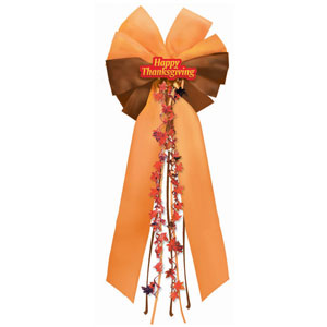 Happy Thanksgiving Door Bow- 24 Inch