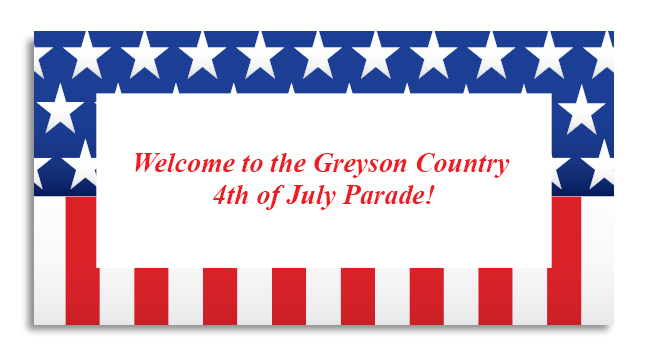 American Flag Border - Custom Invitations
