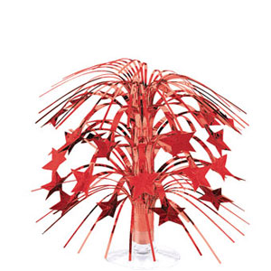 Red Stars Foil Spray Centerpiece- 8in
