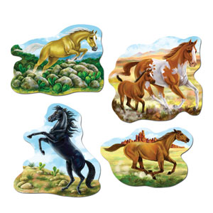 Horse Cutouts- 4pc