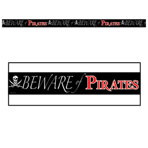 Beware of Pirates Party Tape - 3ft