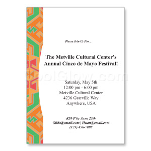 Aztec Border - Custom Invitations