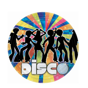 Disco Metallic 9 Inch Plates- 8ct