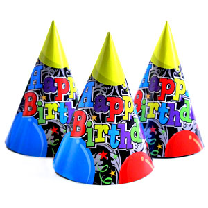 Birthday Balloons Party Cone Hat