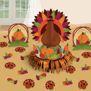 Thanksgiving Fringe Table Decorating Kit- 27pc