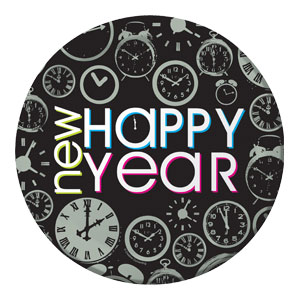 New Year Countdown 9 Inch Plates