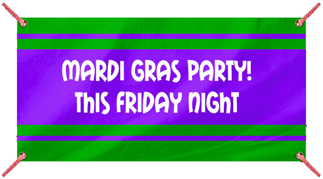Green and Purple Striped - Custom Banner