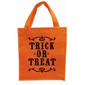 Trick-or-Treat Embroidered Felt Bag- 19in