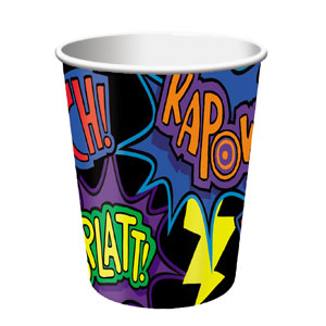 Superhero Fun 9oz Cups - 8ct