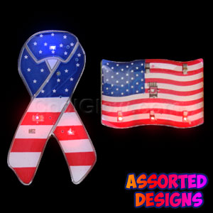 Flashing Patriotic Blinkies - Assorted