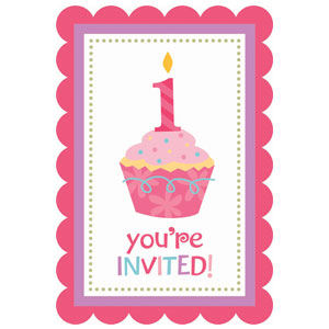 Sweet Little Cupcake Invitations - 20ct