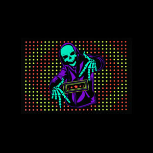 LED Sound Activated Patch - Skeleton DJ