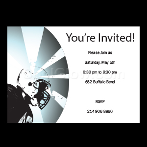 Football Helmet - Custom Invitations