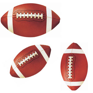 Football Assorted Cutouts- 12pc