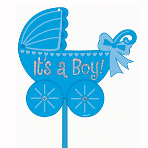 Glitter Baby Boy Yard Sign