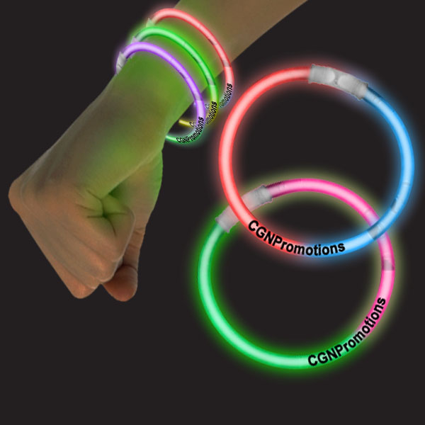 8 Inch Glow Bracelets Bi-Colors - Assorted