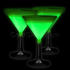 Glow Martini Glass - Green