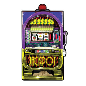 Slot Machine Cutout- 35in