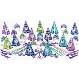 Multicolor Countdown New Years Party Kit for 25- 63pc