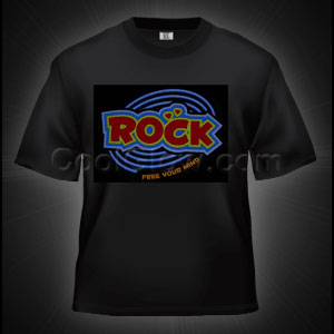 Fun Central O888 LED Light Up Sound Activated T-Shirt - Rock Music