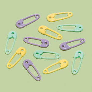 Mini Safety Pin Favor Charm- Multi