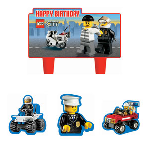 Lego Mini Molded Cake Candles- 4ct