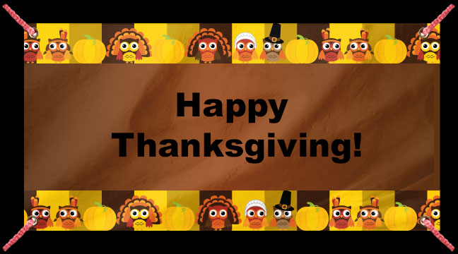 Thanksgiving Owls - Custom Banner