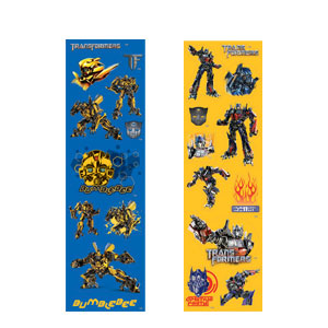 Transformers 3 Sticker Strips- 8ct