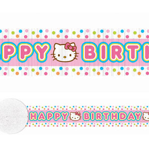 Hello Kitty Balloon Dreams Crepe Streamer- 30ft