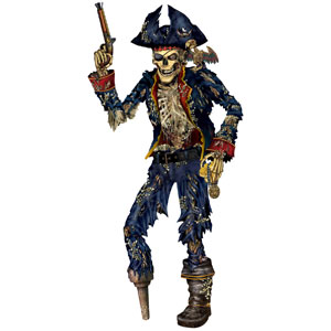 Pirate Skeleton Cutout - 6ft