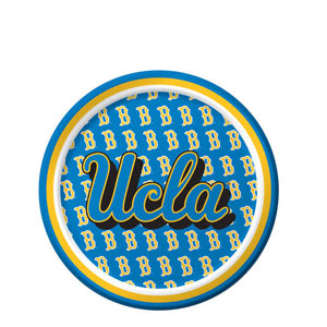 UCLA 7 Inch Luncheon Plates- 8ct