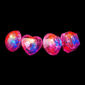LED Jumbo Gem Rings - Pink