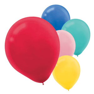 12 Inch Assorted Latex Balloons- 15ct