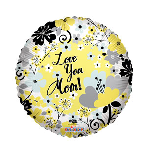 Mom's Floral Garden Love Balloon- 18in