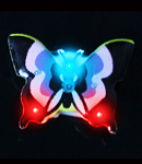 Flashing Purple Butterfly Blinky