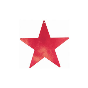 Red 5 Inch Star Cutouts- 5ct